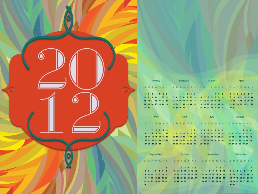 Projekt Kalendarza na 2012 rok